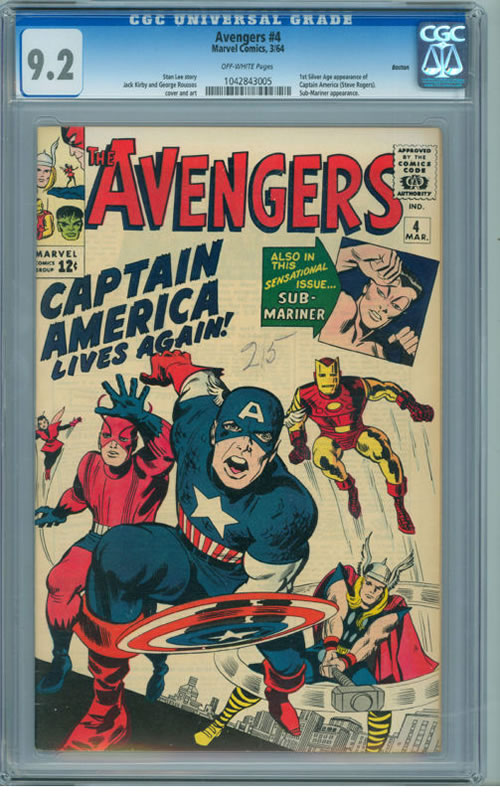 High Value Ebay Comics Auction For The Week Ending 2011 7 23 Avengers 4 It S All Just Comics